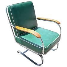 KEM Weber Chrome Art Deco Armchair