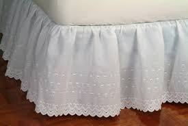Dotted Swiss Lace Curtains by Bed Skirts Cape May Linen