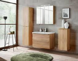 details zu badmöbel set prica 80 oak badmöbel waschbecken mdf platte badezimmermöbel