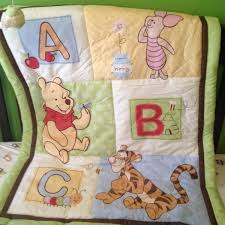 Classic Pooh Crib Bedding by Win Disney Baby Pooh Abc 4 Piece Crib Bedding Set Babycenter Blog