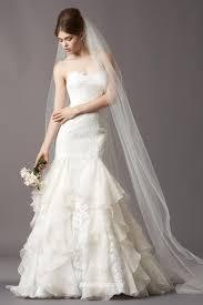 mermaid lace and organza sweetheart wedding dress cascading skirt