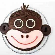 Monkey Birthday Cake Design