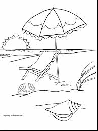 Astonishing Summer Beach Coloring Pages With Summertime And For Preschool