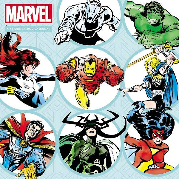 Mead Marvels Heroes 12x12 Monthly Wall Calendar - Calendars
