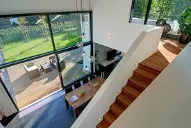 design fertighaus hohes wohnzimmer bild 2 schöner wohnen