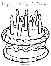 Magnificent Ideas Dr Seuss Coloring Page Happy Birthday Twisty colouring pages for kids