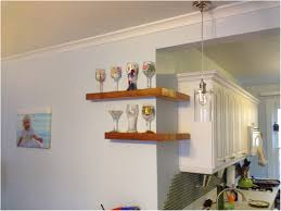 Wood Corner Shelf Oak