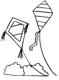 Kite Coloring Pages For Preschoolers