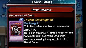 duel links duelist challenge 6 getting skull knight youtube