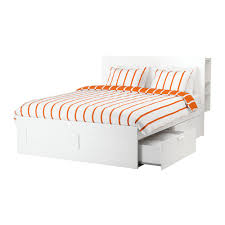 BRIMNES Bed frame with storage & headboard Queen IKEA