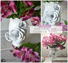 Decorative Flower Vase Free Tutorial With Pictures On How To Make A Paper Planter In