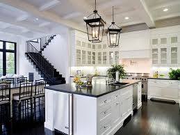 Dark Hardwood Floors And White Walls Also Intended For Modern Kitchen