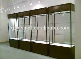 new style white lockable display cabinets for exhibition glass