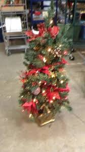 3 1 2 Foot Pre Lit Decorated Christmas Tree