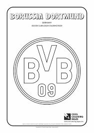 Borussia Dortmund Logo Colouring Page