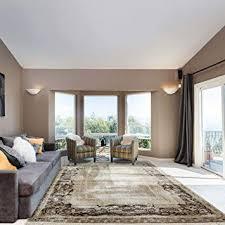 mynes home teppich beige velour bordüre wohnzimmer ornamente rokoko design mit öko tex 200 x 290 cm