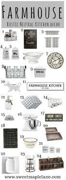 Rustic Neutral Farmhouse Kitchen Decor