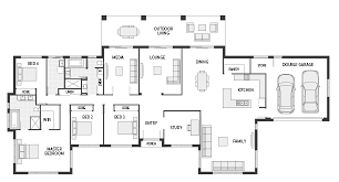 Wide House Plans by Floor Plans Home Design