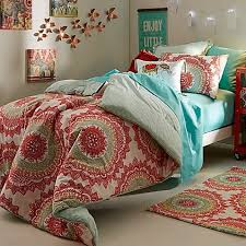 Amazon Anthology Bungalow Reversible forter Set in Coral