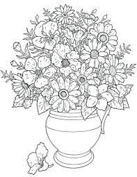 Flower Bouquet Coloring Pages Free Printable Download For Of Flowers
