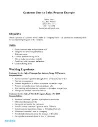 Example Resume 2017 Sample Sales Customer Service Job Objective Best