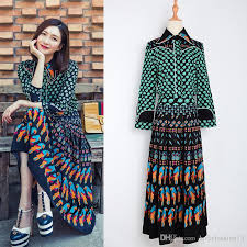 2017 Top Fashion Runway Bohemian Outfit Blouse Pleated Skirt Women Vintage Printed Set Celebrity Twin Plus Size 4XL 2 Pieces