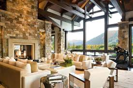 Rustic Contemporary Living Room Ideas Fireplaces Stone Fireplace Designs