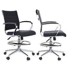 Set Of 2 Office Chair Ribbed Padded Open Mid Back With Wheels And Arms  Chrome Foot Rest Buy Office Chair Ea 119 Style Premium Leather Wheels China High Back Emes Swivel Chairs With Yaheetech White Desk Wheelsarmes Modern Pu Midback Adjustable Home Computer Executive On 360 Barton Ribbed W Thonet S 845 Drw Wheels Bonded 393ec3 Star Afwcom Ikea Office Chair White In Bradford West Yorkshire Gumtree 2 Adjustable Ribbed White Faux Leather Office Chairs With Wheels Eames Style Angel Ldon Against A Carpet Charming Black Genuine Arms Details About Classic Without Welsleather Wheelsexecutive