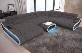 big sofa concept u form stoff mix