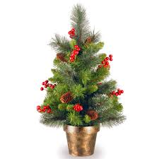 Loon Peak Gold Hill Spruce 2 Green Small Artificial Christmas Tree With Clear Lights Reviews