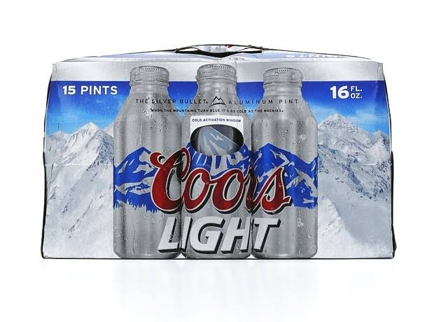 Coors Light Beer - 16 fl oz, x15