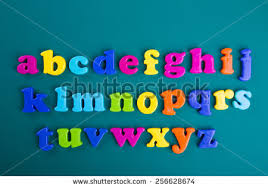 Colorful Alphabet Magnetic Letters Green Stock