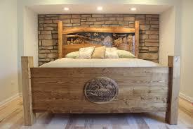 remarkable king size wood headboard ana white reclaimed wood look