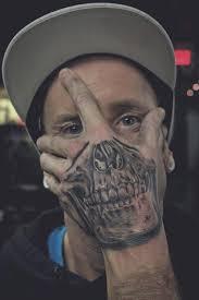 Cool Skull Tattoo On Mans Hand