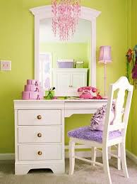 White Vanity With Mirror And Chair
