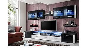 unbekannt bmf zoom modern hochglanz wohnzimmer schlafzimmer studio flach wohnwand mit unterschrank led glas einlegeböden nur aus bmf matt