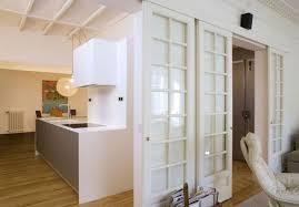 kuhinjska vrata za svetlobo v hodniku schiebetur kuche