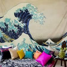 lomohoo wandteppich psychedelic wandtuch wandbehang große