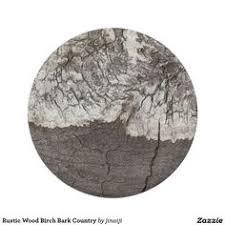 Rustic Wood Birch Bark Country BarkPaper PlatesRustic