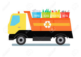 100 Paper Truck Garbage Transporting Colored Recycle Waste Bins With