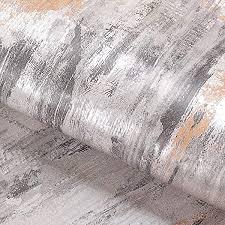 livelynine klebefolie muster vintage selbstklebende tapete grau glitzer tapeten wohnzimmer badezimmer schlafzimmer modern möbel industrial tapete