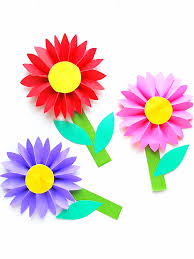 Easy Paper Daisy Craft Kids Kidcrafts Spring Summer Flowers Papercraft