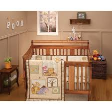 Woodland Themed Nursery Bedding by Solid Wood Baby Cribs Theme Winnie The Pooh Crib Bedding Plus Baby