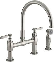 Kohler Coralais Kitchen Faucet Biscuit by Three Hole Kitchen Faucet Moen Brantford 15 Gpm 3hole Kitchen