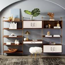 Linden Mid-Century Wide Storage Shelf Unit | Interiors | Pinterest ... Long Media Console Car Desk Organizer Coffee Table Foyer Tables Pottery Barn Settee About Fancy Apothecary For Fresh 12 Chloe Ideas 2017 Armoire Ebay Griffin Reclaimed Wood Decor Look Pottery Barn Console Table Roselawnlutheran 15 Best Of Rhys From Do Want