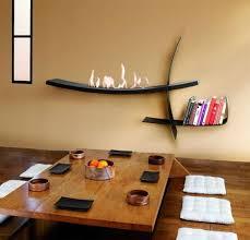 modernes wohnzimmer japanischer stil kamin kaminbau