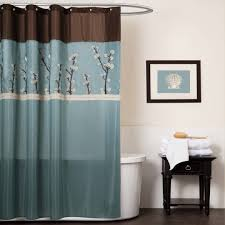Teal And Brown Curtains Walmart by Gorgeous Cocoa Flower Shower Curtain Walmart Blue And Brown Shower