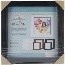 Doodlebug Fashion Furnishings Shadow Box 12 By 12Inch Black