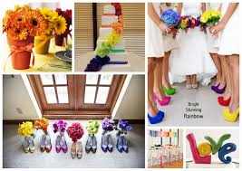 2013 Wedding Trend 1 Rainbow Theme