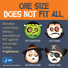 Blue Prescription Halloween Contacts by Keep Your Eyes Safe On Halloween Contact Lenses Cdc